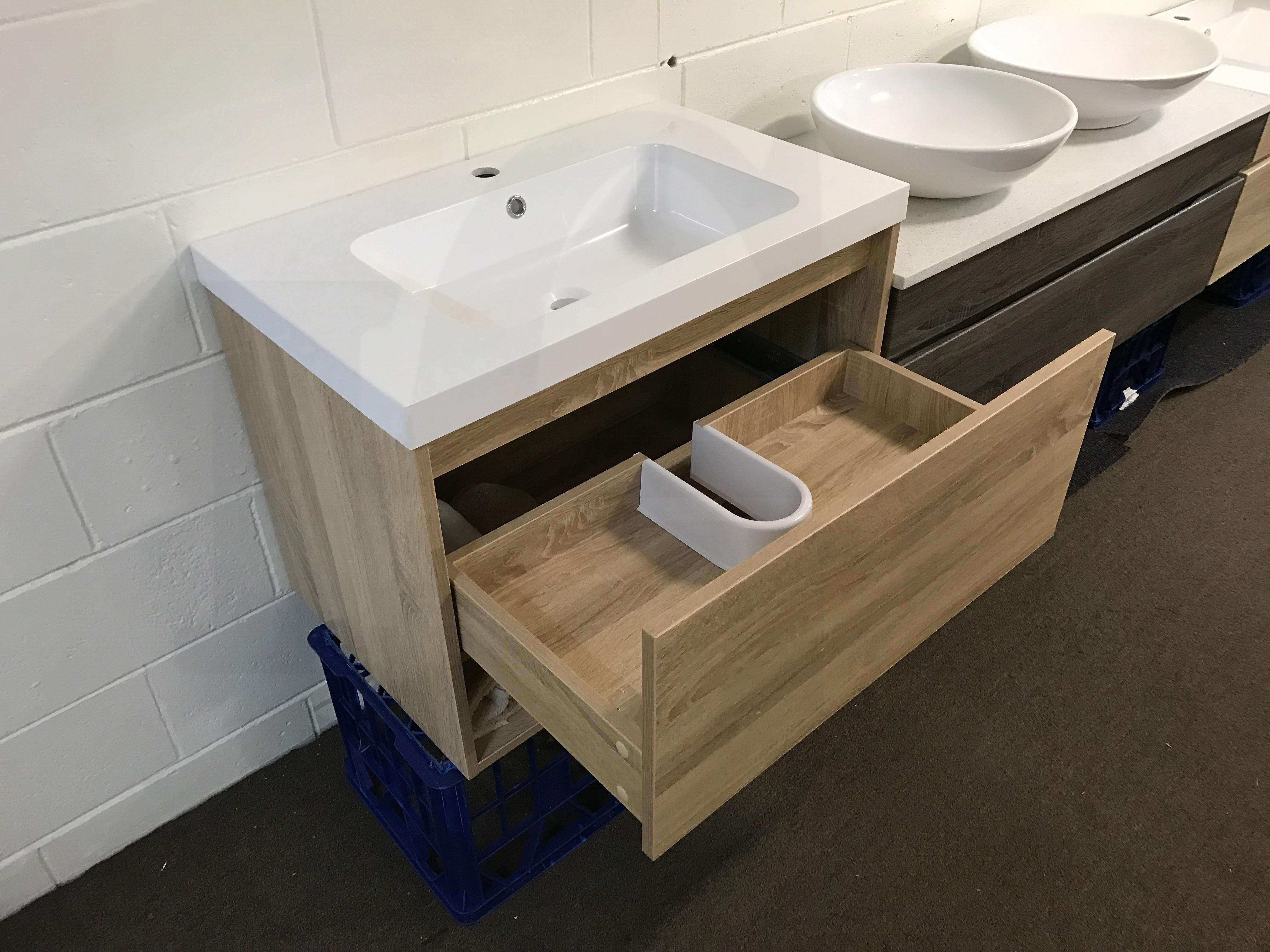 Eden 750mm White Oak Textured Timber Wood Grain Bathroom