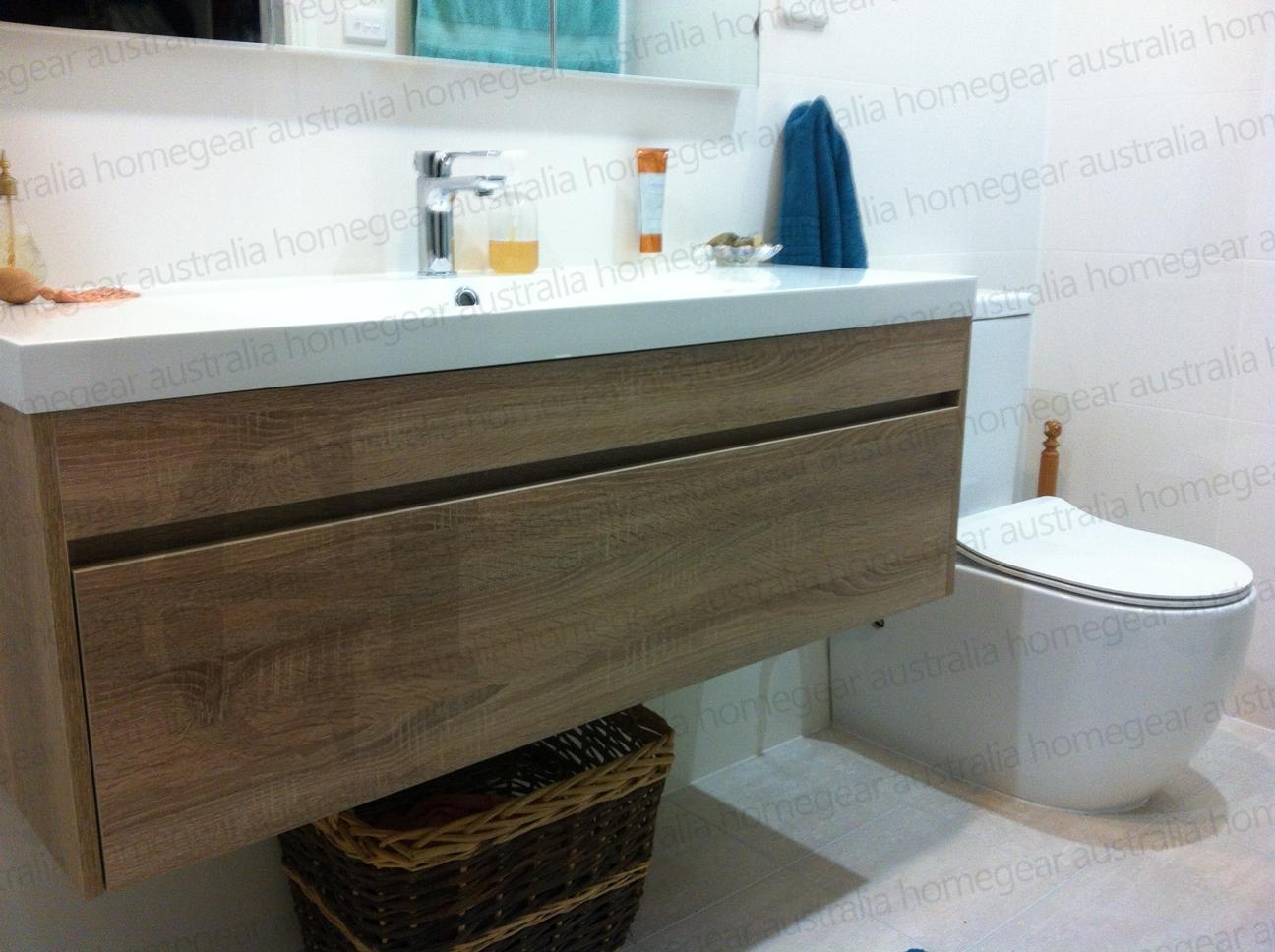 IBIZA 1200 White Oak Timber Look Wood Grain  IBIZA 1200mm White Oak Wall  Hung Vanity. IBIZA   1200mm White Oak Textured Timber Wood Grain Wall Hung Soft
