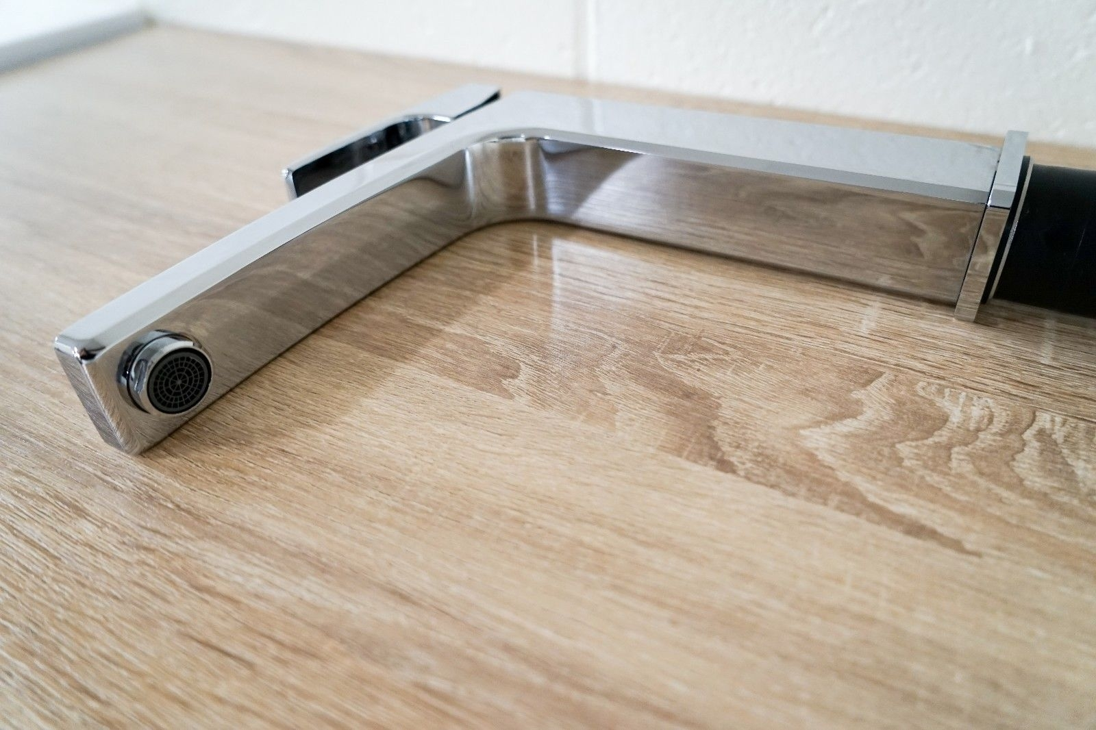 Square MATTE BLACK 120° Swivel Medium Rise Tall Vessel Basin Kitchen Sink Mixer