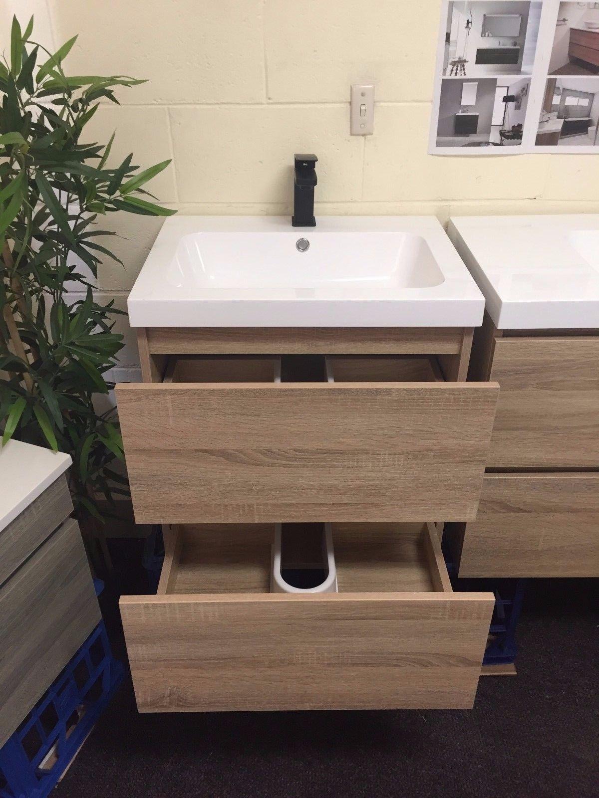 Bogetta 600mm White Oak Timber Wood Grain Bathroom