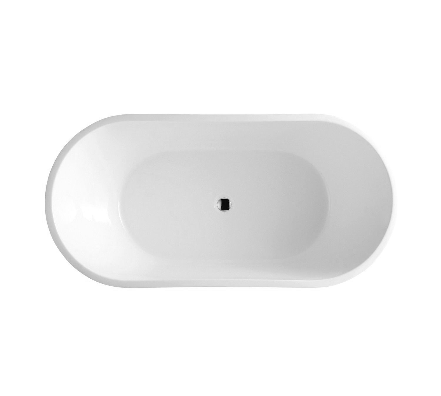 BRONTE | Round/Oval Freestanding Lucite® Acrylic Bath Tub | 1400mm ...