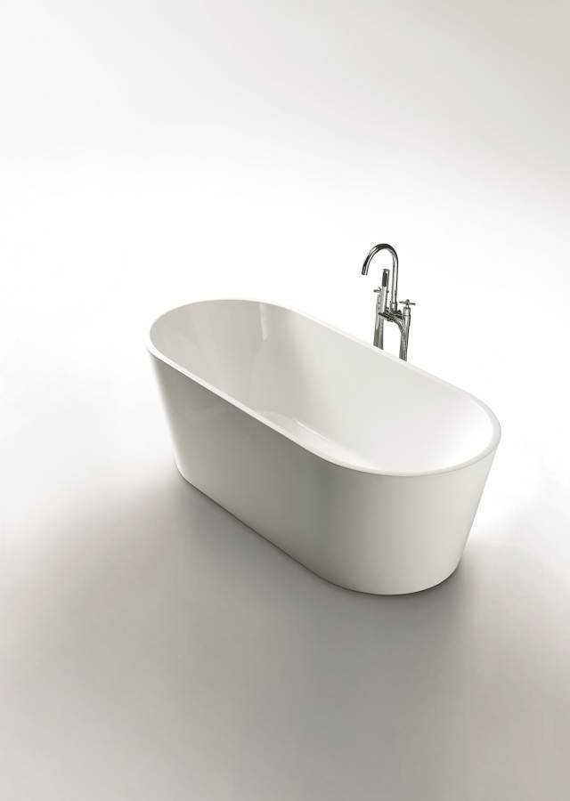 Bronte Round Oval Freestanding Lucite 174 Acrylic Bath Tub 1400mm 1500mm 1700mm Homegear