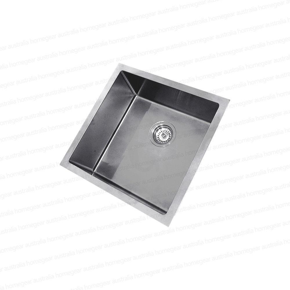 450mm Square Handmade 304 Grade Stainless Steel Single