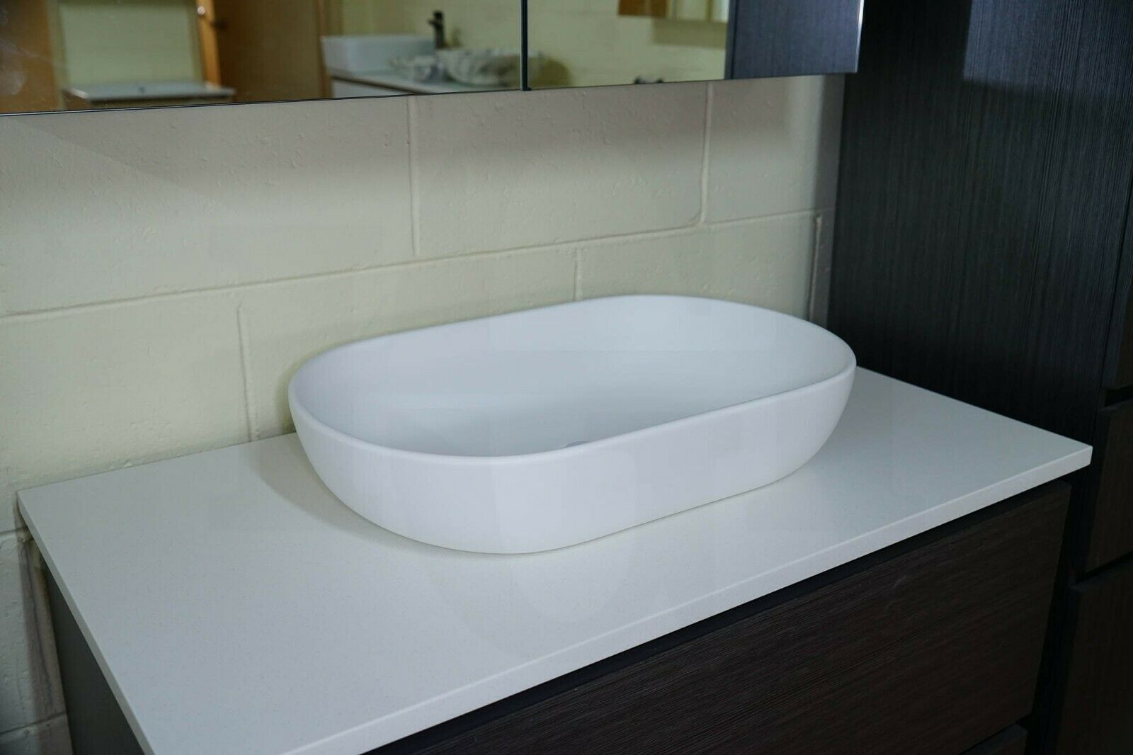 617 Oval Matte White Above Counter Art Basin Solid