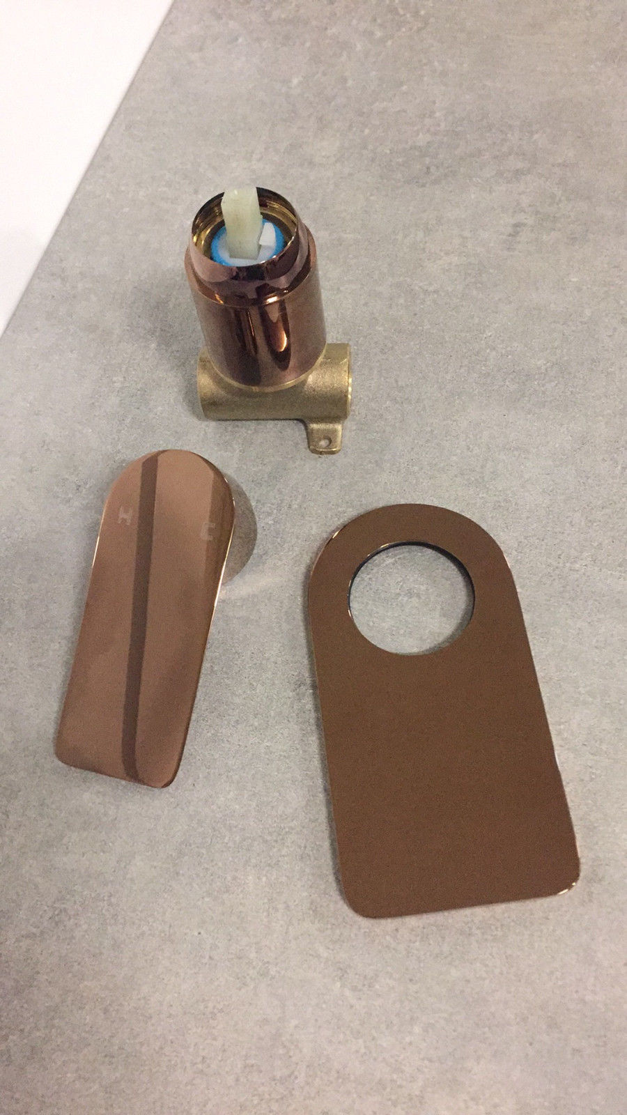 Plush Round Amp Square Rose Gold Bathroom Wall Shower