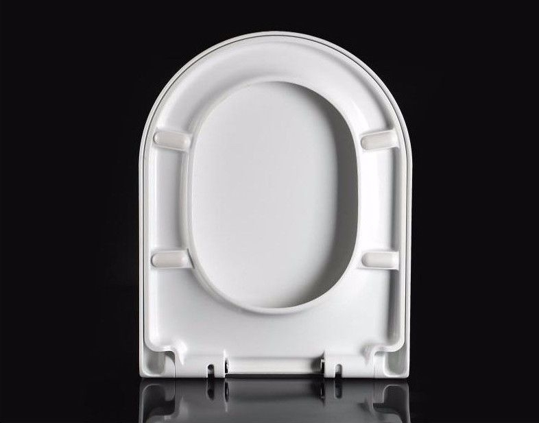 Peachy Round D Shape Duraplast Heavy Duty Soft Close Quick Release White Toilet Seat Machost Co Dining Chair Design Ideas Machostcouk