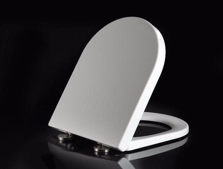 Round D Shape Duraplast Soft Close Quick Release White Toilet Seat