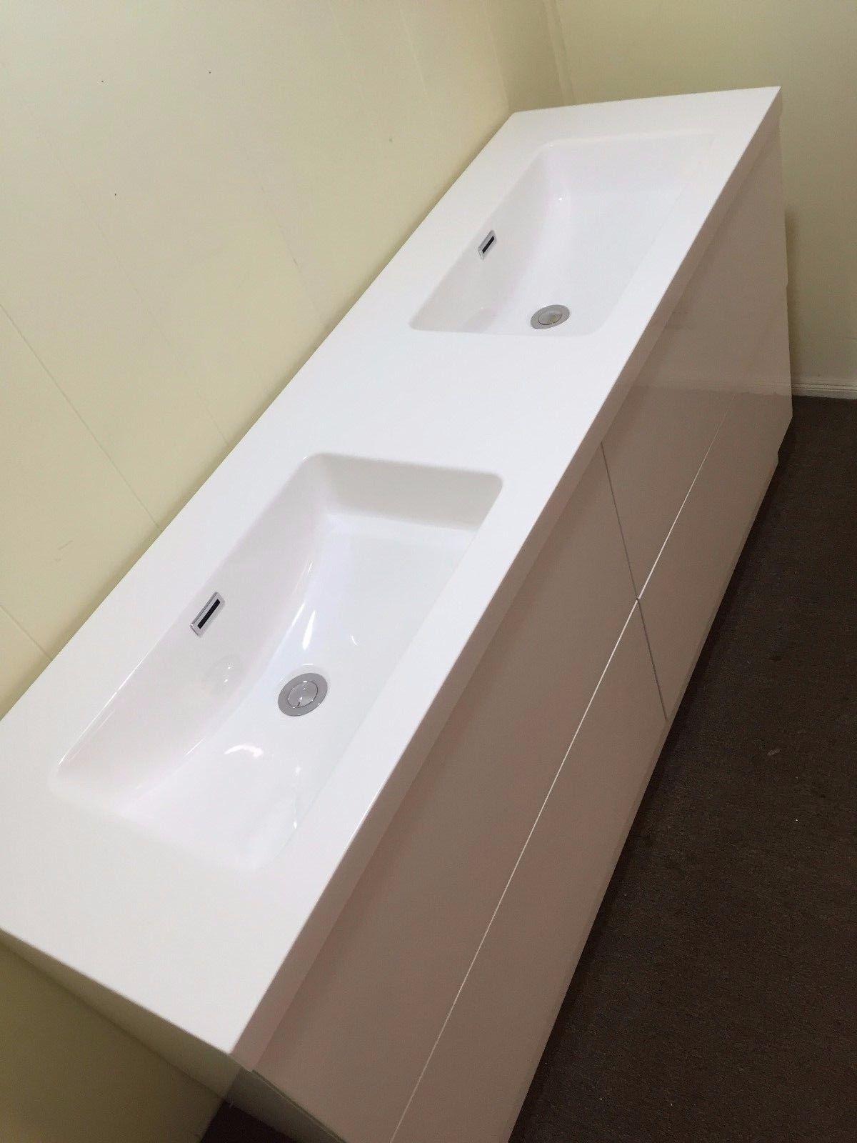 SIENA | 1500mm White Gloss Polyurethane Double Bathroom ...