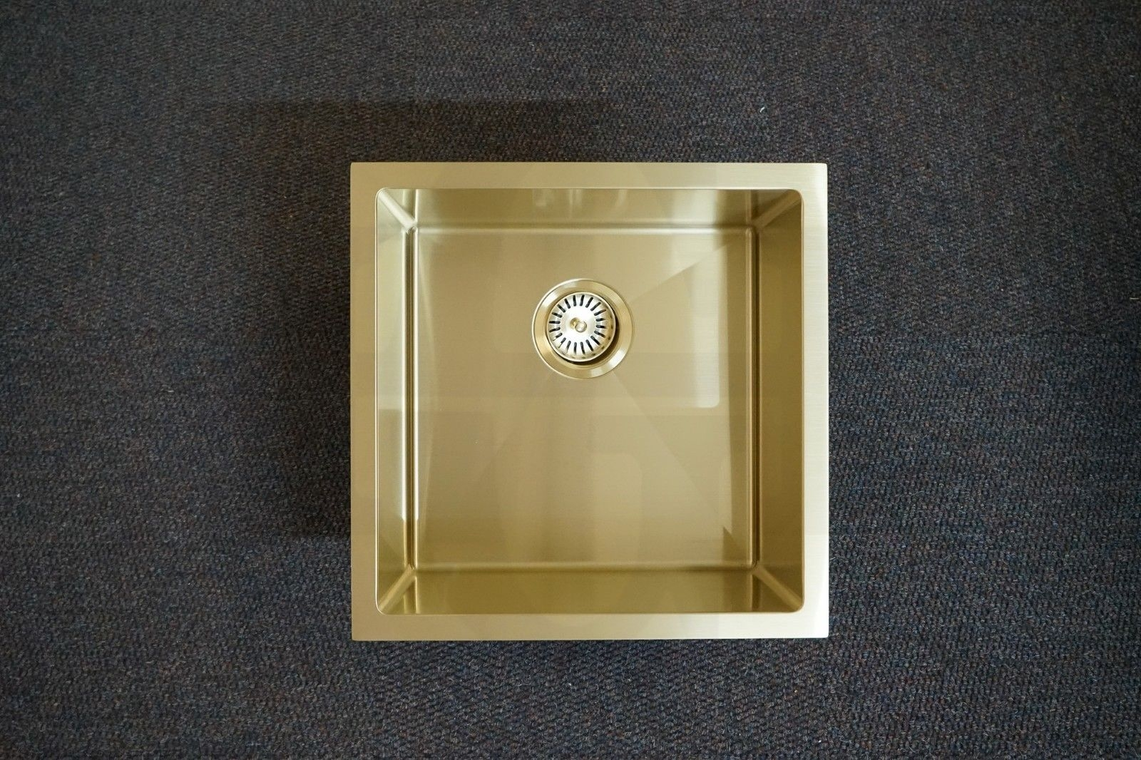 Quad 450mm Square Light Gold Handmade Stainless Steel