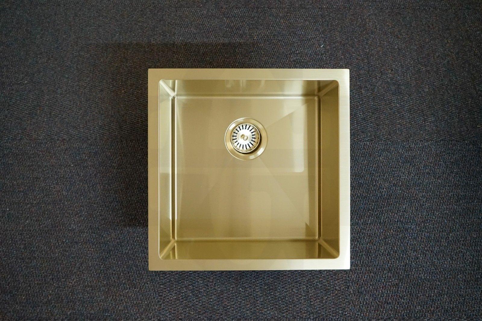 Quad 450mm Square Light Gold Handmade Stainless Steel