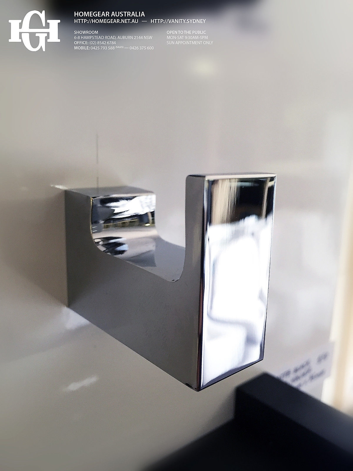 Ettore Square Polished Chrome Bathroom Robe Towel Hook Homegear Australia