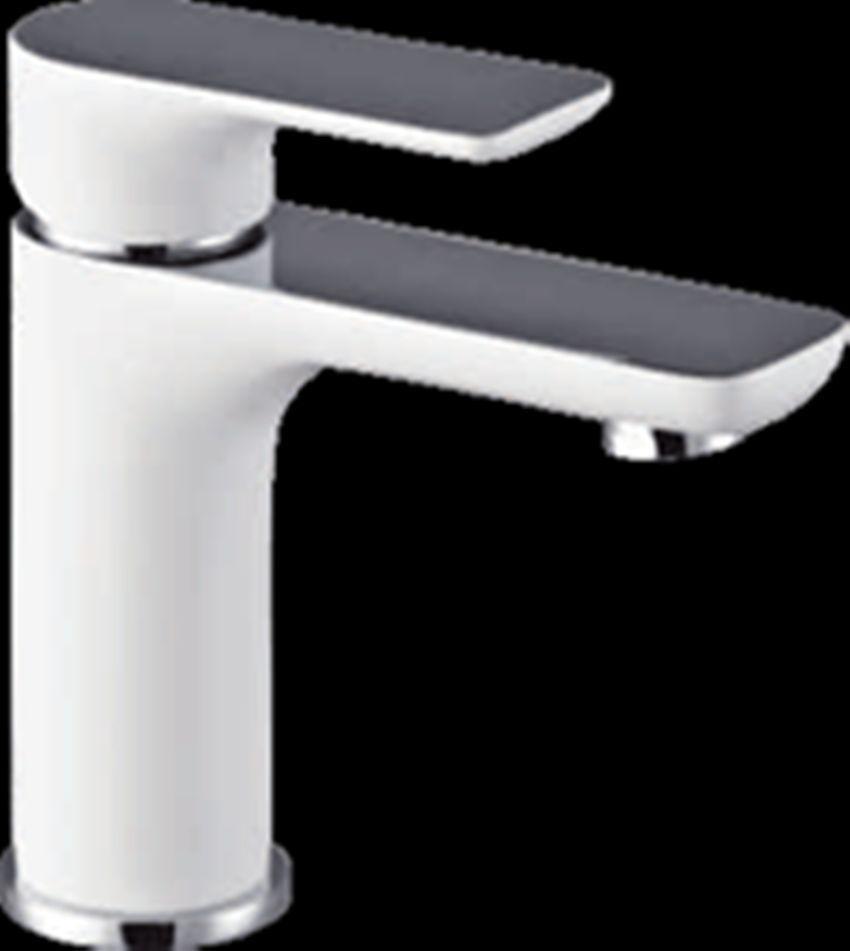 PLUSH | Piano White & Chrome Square & Round Bathroom Basin Mixer ...