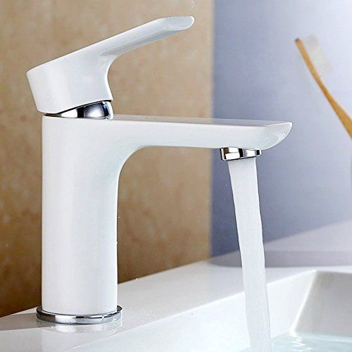 PLUSH | Piano White & Chrome Square & Round Bathroom Basin Mixer ...