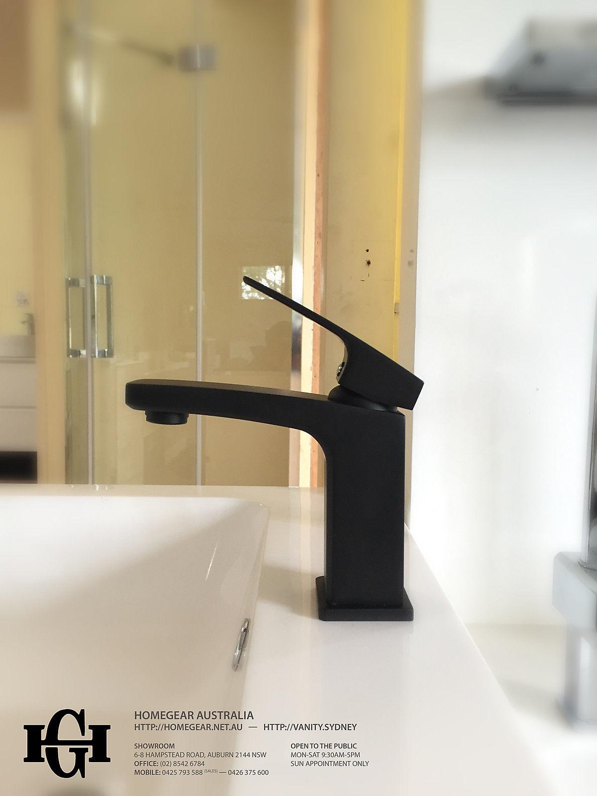 Coco Square Matte Black Bathroom Basin Mixer Homegear