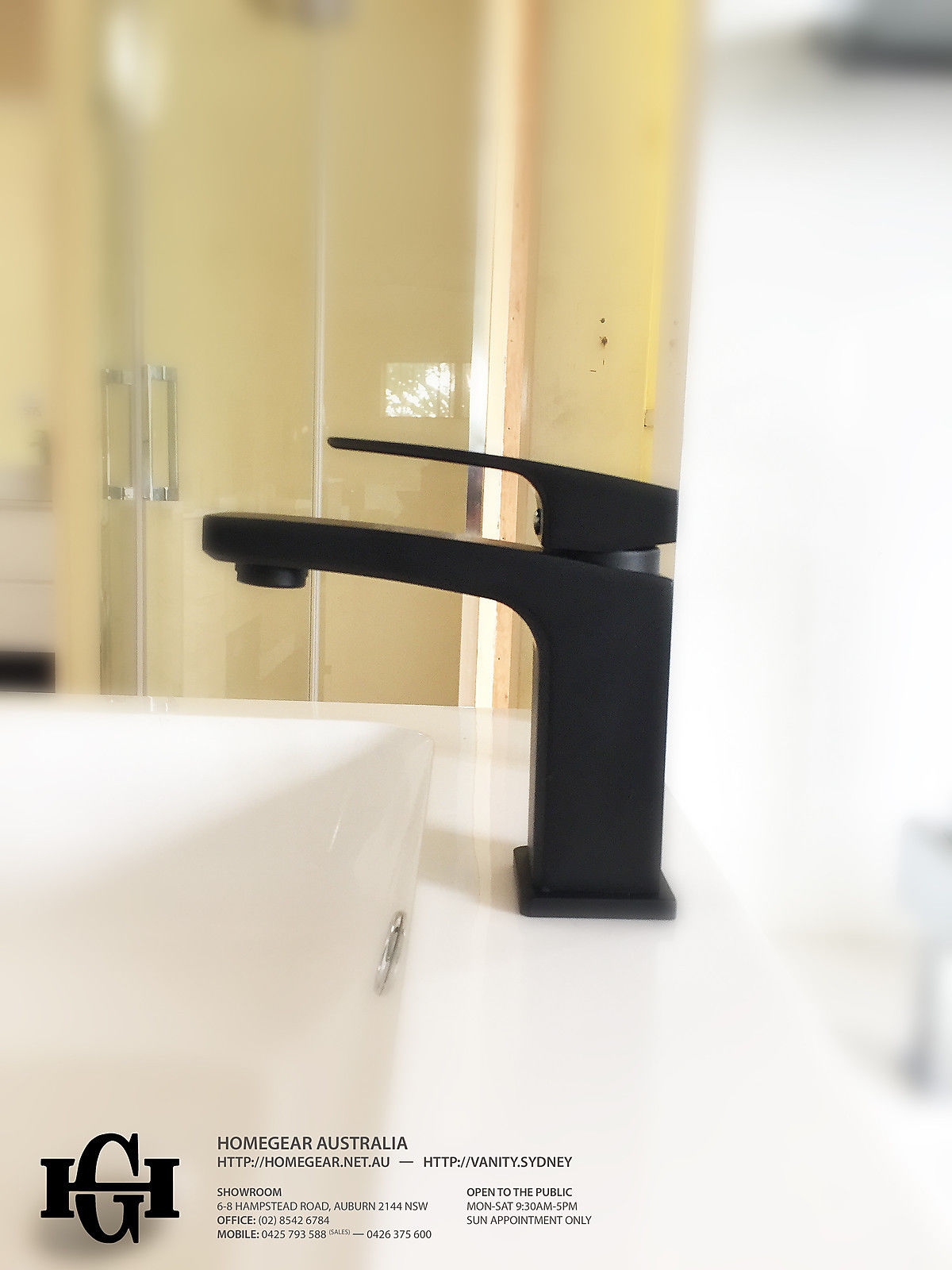 Coco Square Matte Black Bathroom Basin Mixer Homegear