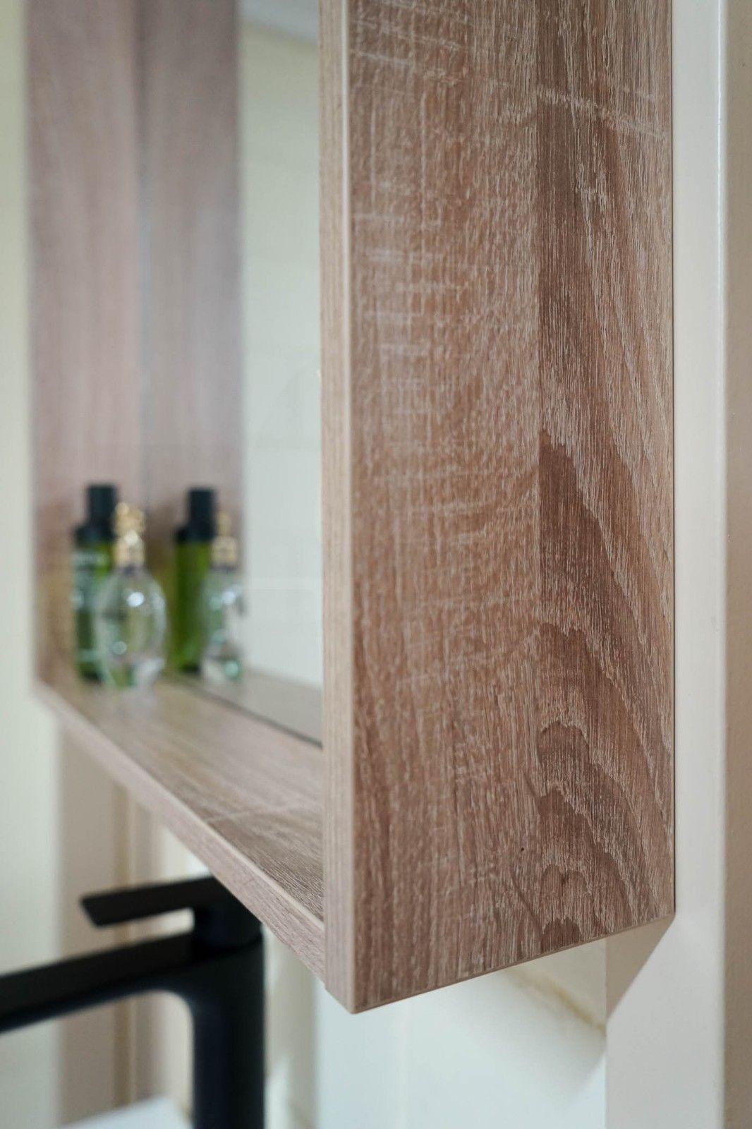 Framed White Oak Timber Wood Grain Wall Mounted Framed