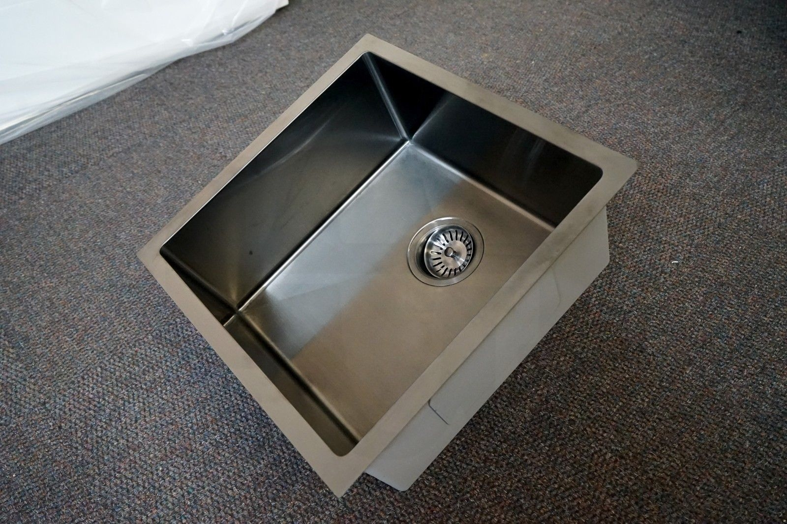 QUAD | 450mm Square Gun Metal Gray Handmade Stainless Steel Sink ...