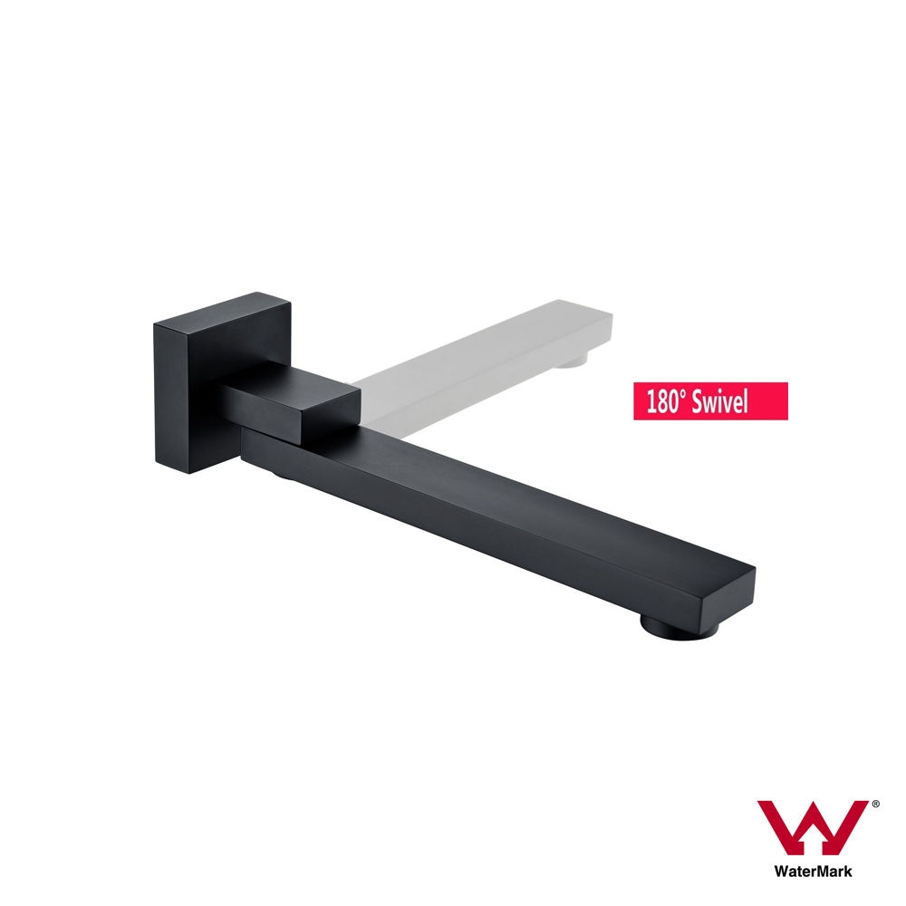 ETTORE | Matte Black Square 180° Swivel Wall Mounted Water Spout ...
