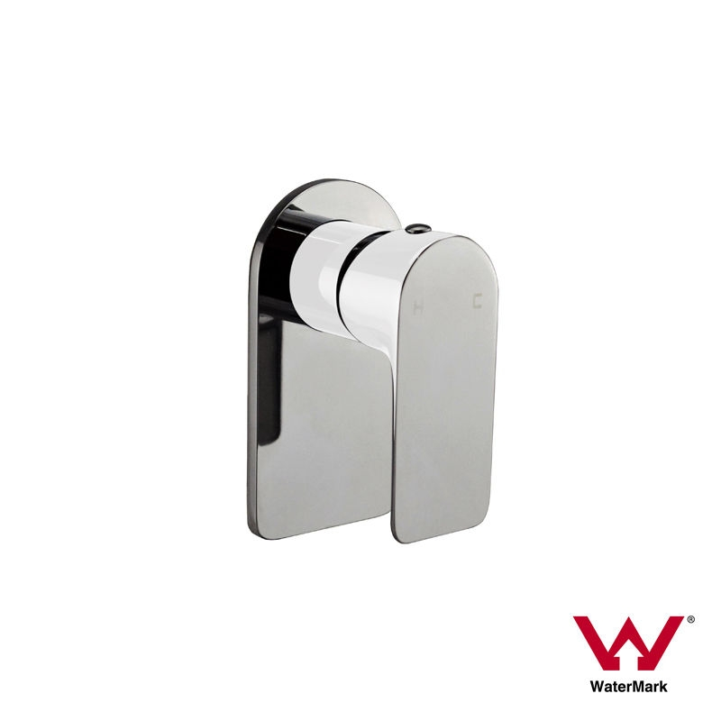 PLUSH | Round & Square Piano White & Chrome Bathroom Wall Shower ...