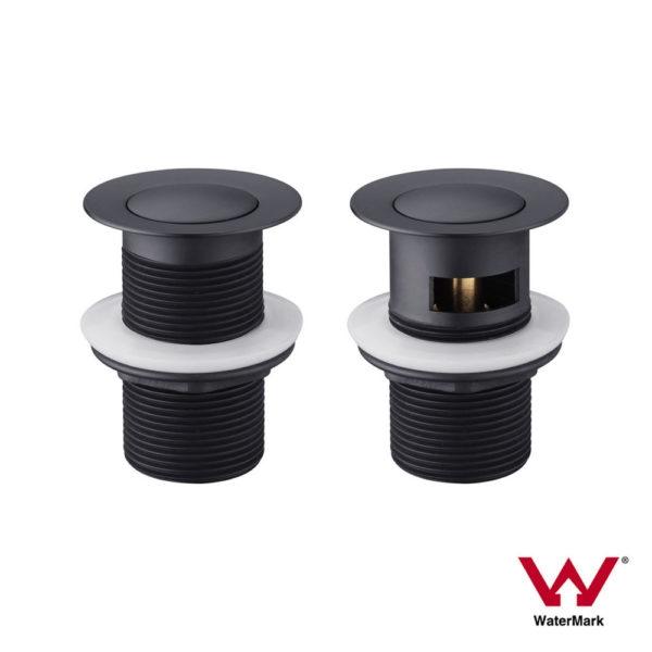 PREMIUM-ELECTROPLATED-Matte-Black-40mm-Pop-Up-BathSink-Plug-Waste-wwo-OVERFLOW-253067002245