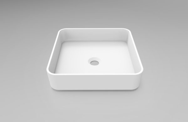 Square-Matte-White-Solid-Surface-Pure-Acrylic-Stone-Above-Counter-Art-Basin-Bowl-254139293785