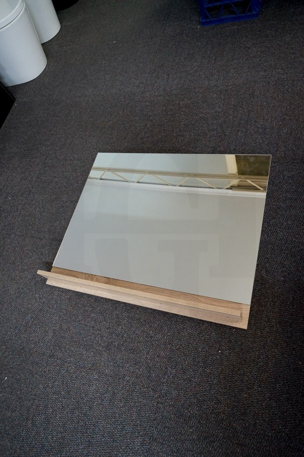 Reflect White Oak Timber Wood Grain Pencil Edge Mirror