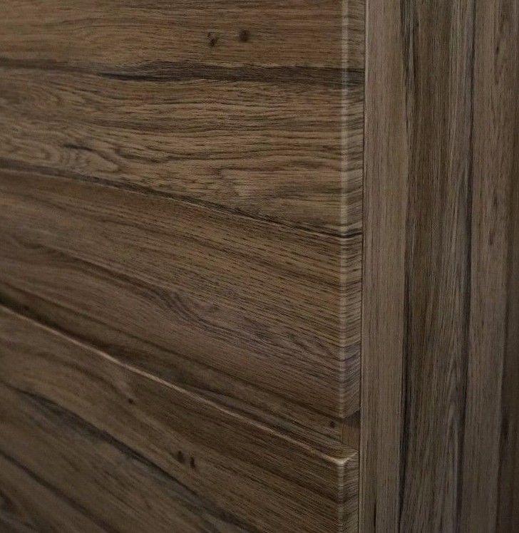 Bogetta 1200mm Walnut Oak Pvc Thermal Foil Timber Wood Grain Vanity With Stone Top Homegear