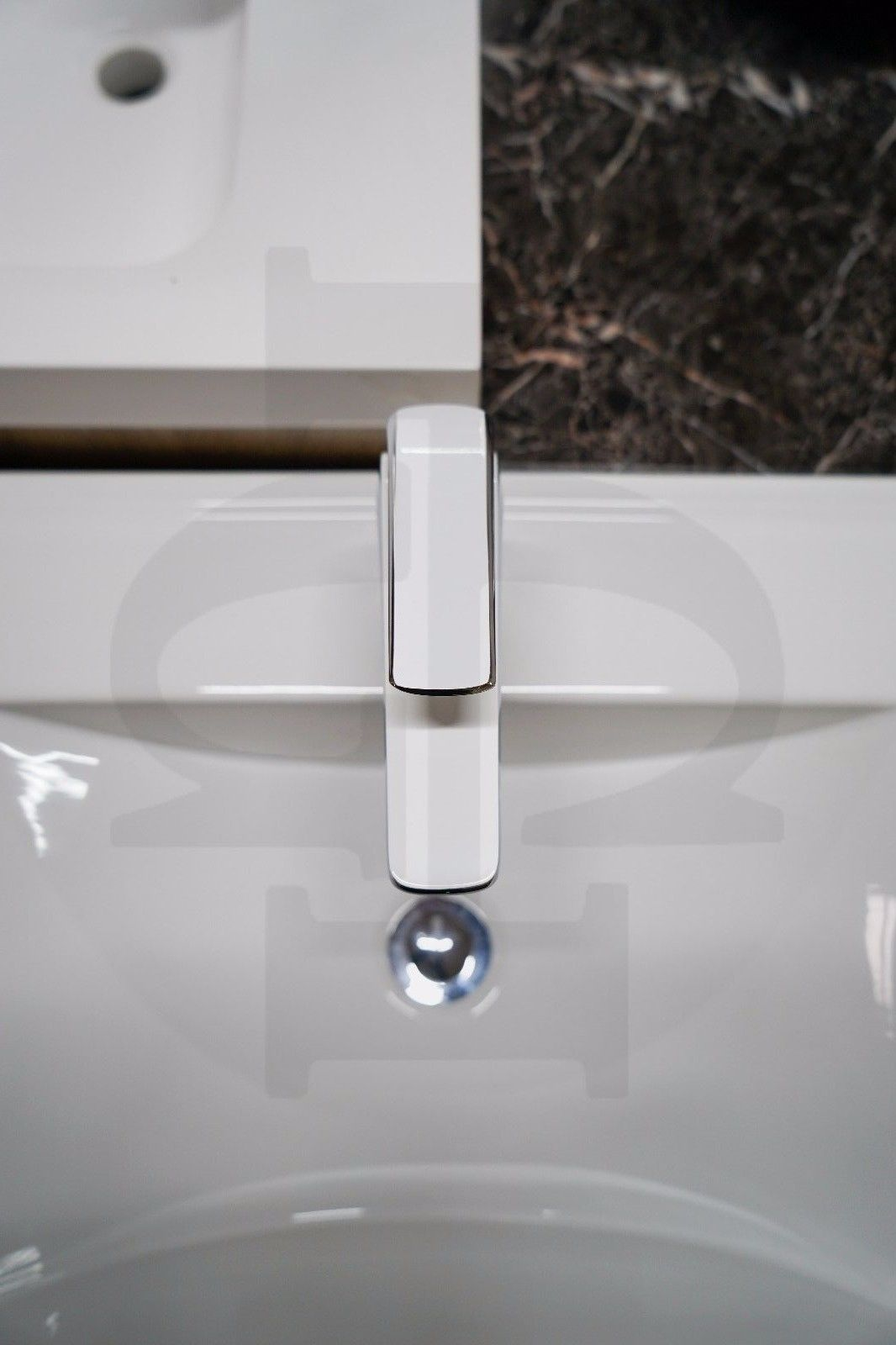 MASA | Modern Square White & Chrome Designer Bathroom Basin Mixer ...