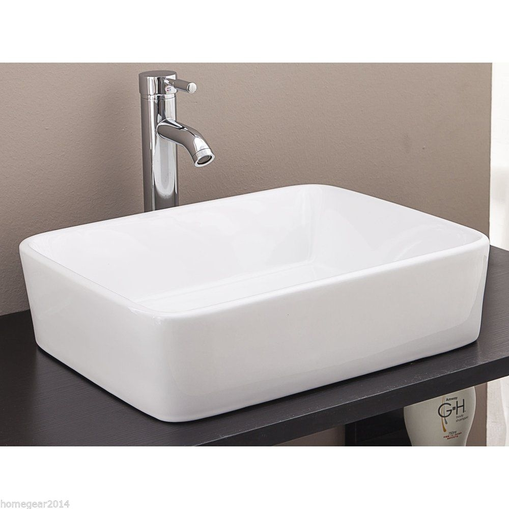 9 K303 Rectangle Above Counter Ceramic Art Basin Homegear Australia