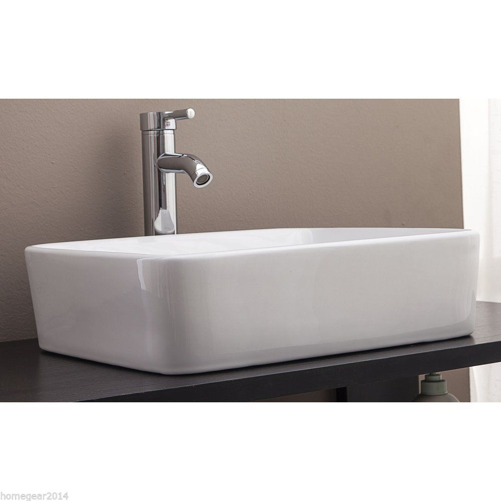 Bathroom Vanities Australia: Rectangle Above Counter Ceramic Art Basin