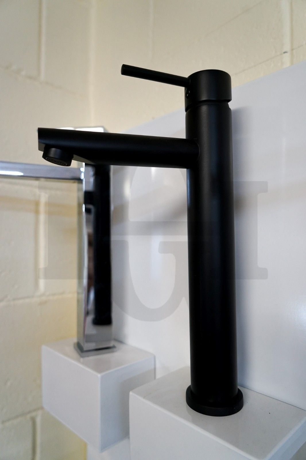 Round Premium Electroplated Matte Black High Rise Tall
