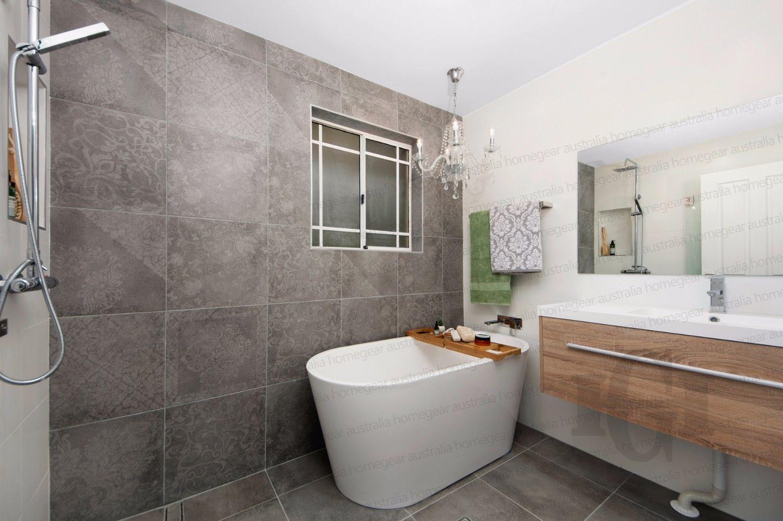 1340mm Oval Freestanding Acrylic Bath Tub With Side Waste 1340x675x560 Homegear Australia