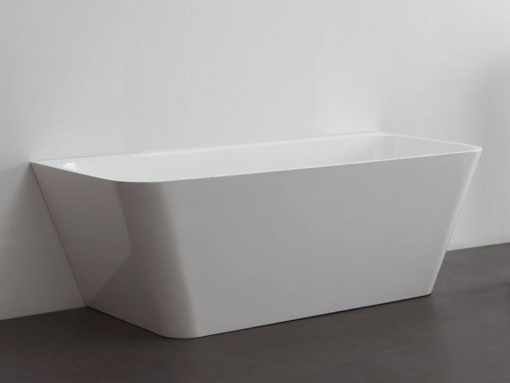 LE CARRE | Square Back To Wall Freestanding Acrylic Bath Tub ...
