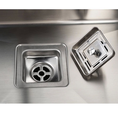 760mm double bowl premium stainless steel handmade kitchen - Square stainless steel bathroom sink ...
