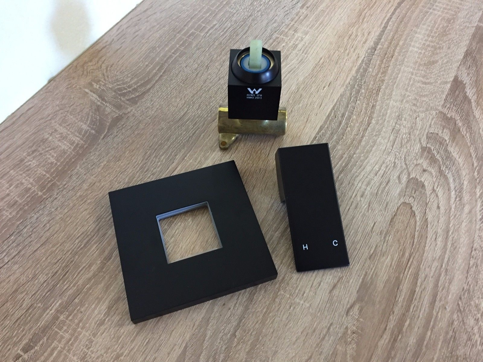 ETTORE | Premium Electroplated Matte Black Square Wall Mounted ...