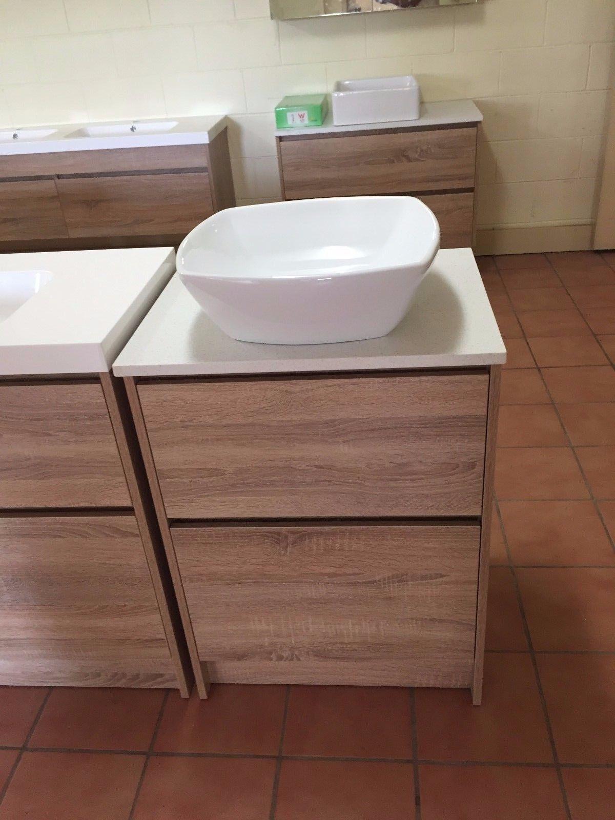 Moda 600mm White Oak Timber Wood Grain Floor Standing