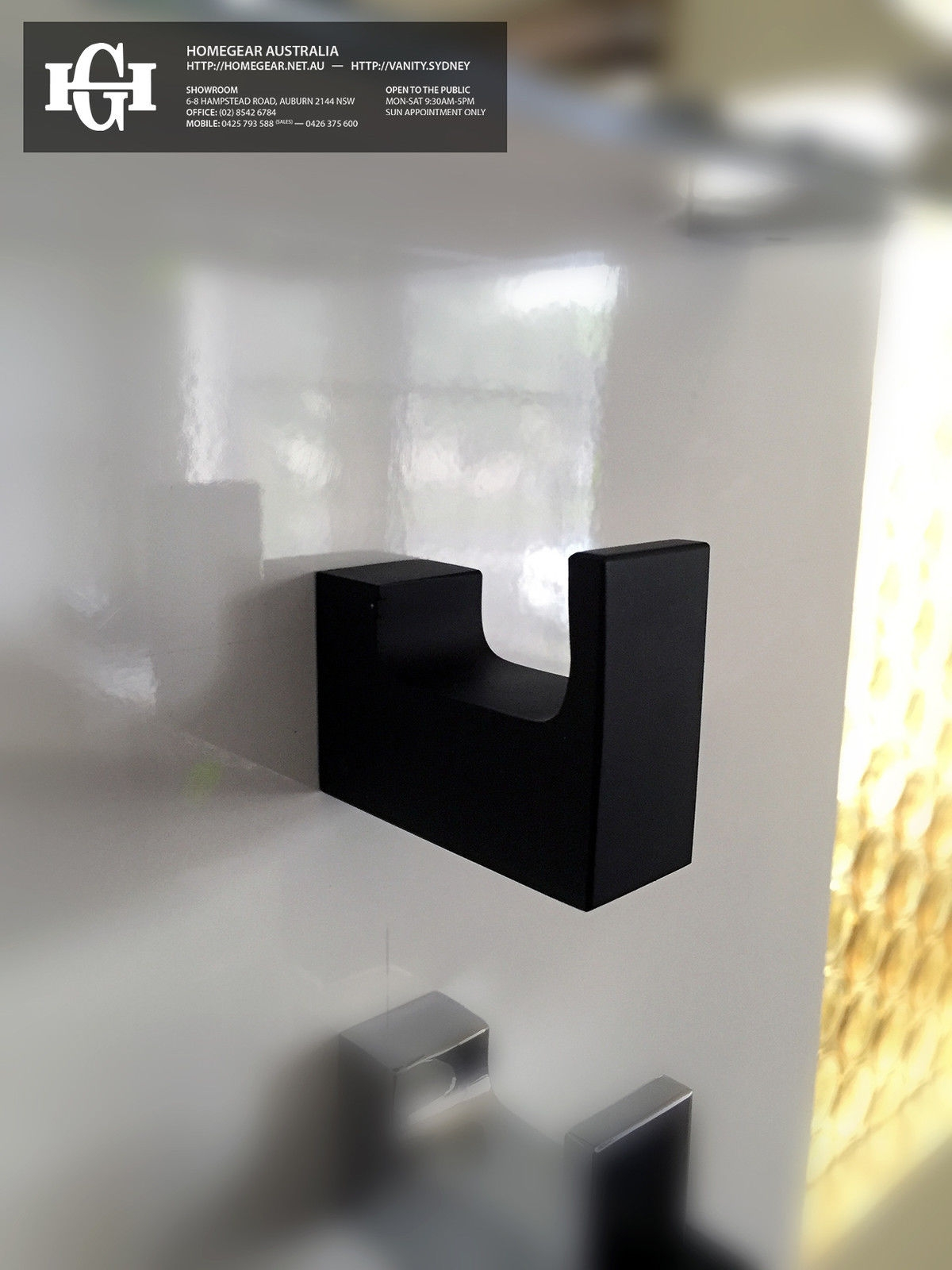 Ettore square matte black bath robe towel hook for Black and cream bathroom accessories