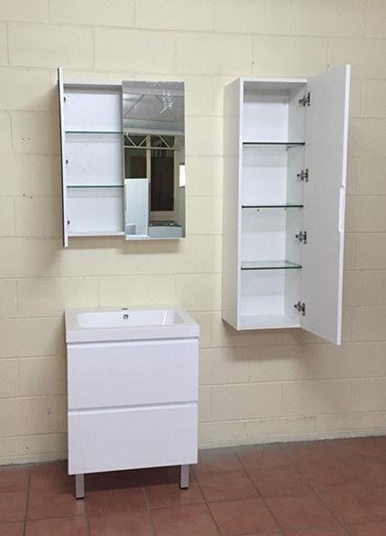 montana single swivel mirror door bathroom cabinet white