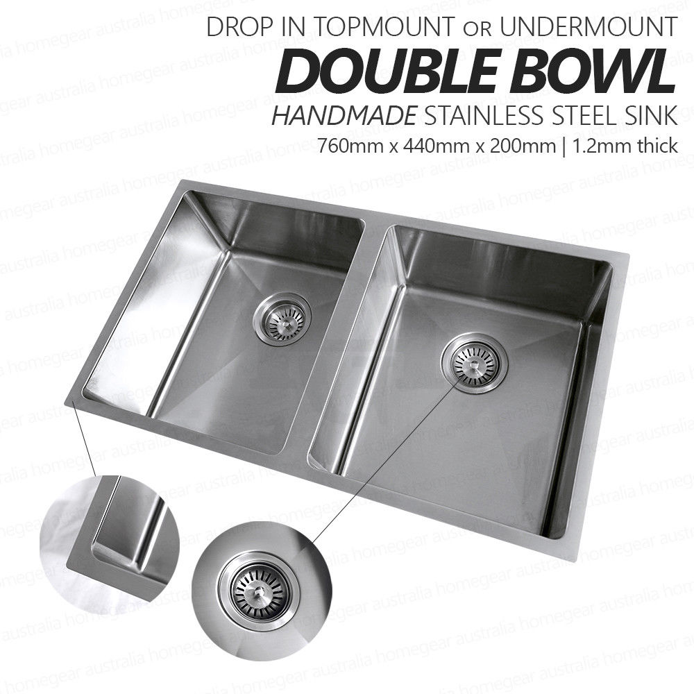 760mm Double Bowl Premium Grade Stainless Steel Kitchen