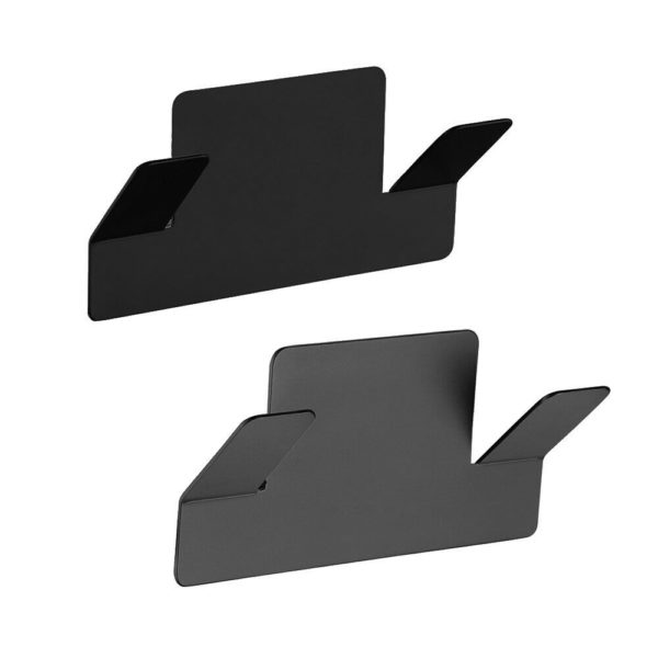 EASY-Matte-BlackForest-Gray-Double-Robe-Hook-No-Drilling-3M-Self-Adhesive-254451979668
