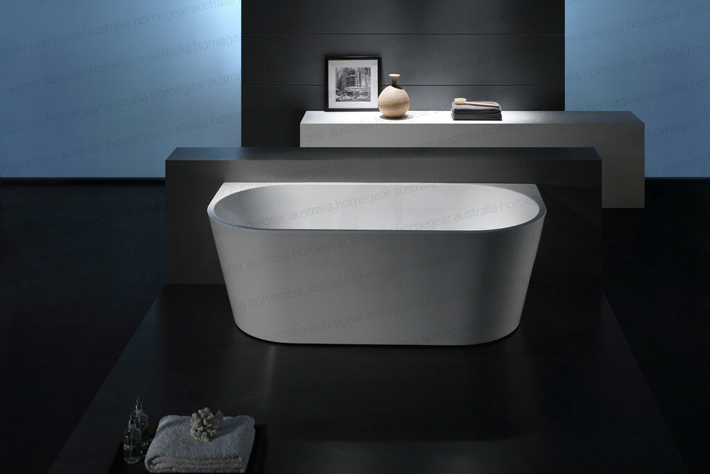 1500mm 1700mm Round Back To Wall Freestanding Lucite 174 Acrylic Bath Tub Qld Homegear Australia