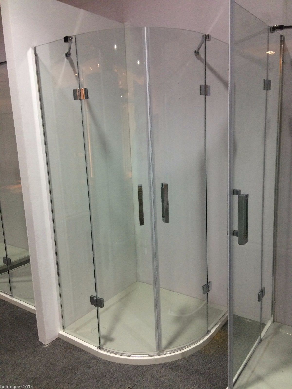 Frameless Glass Shower Screen Diamond Square Quadrant