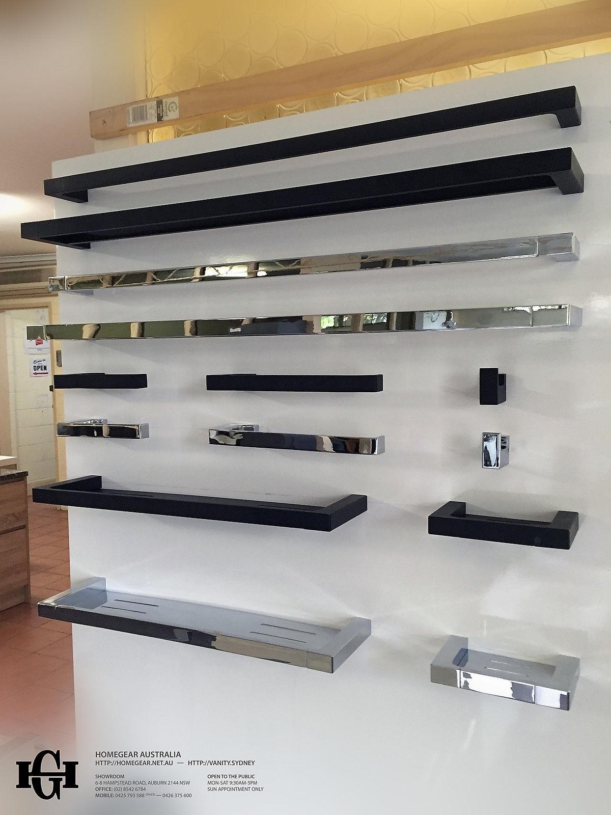 Modern Square Polished Chrome Metal Shower TrayShelfRack Bathroom