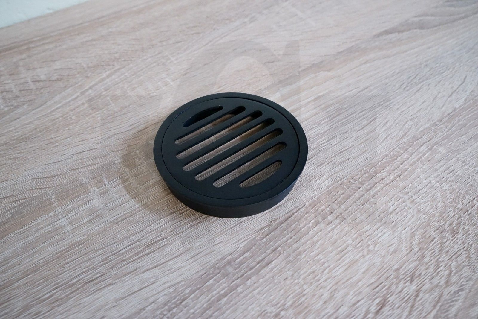 Round Matte Black Floor Waste Premium Electroplated